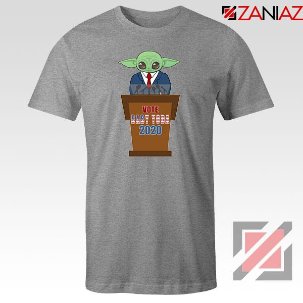 Vote Baby Yoda 2020 Sport Grey Tshirt