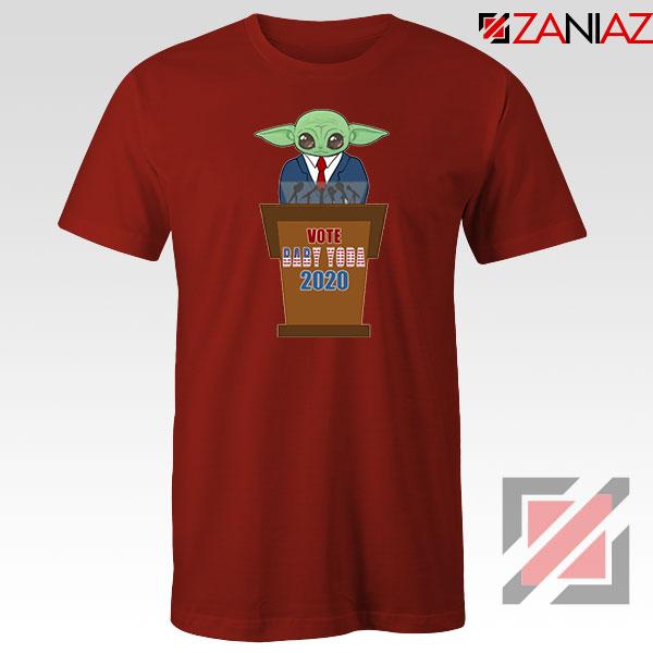 Vote Baby Yoda 2020 Red Tshirt