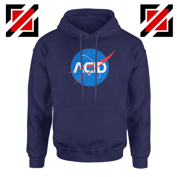 Acid Nasa Navy Blue Hoodie
