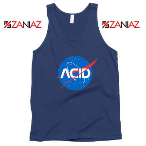 Acid Nasa Navy Blue Tank Top
