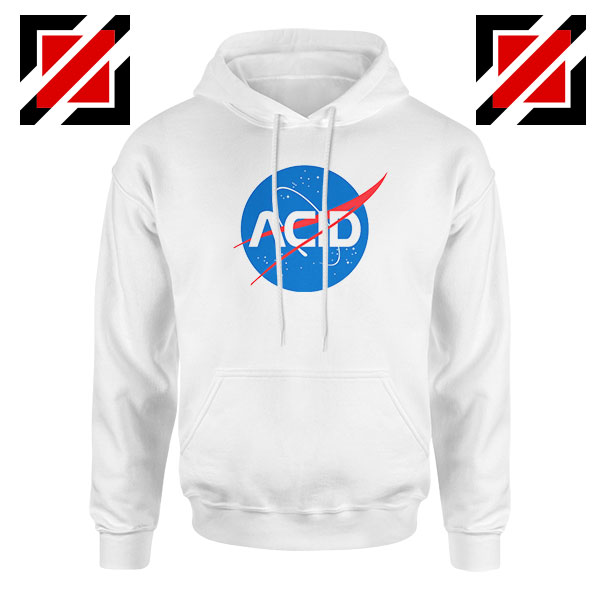 Acid Nasa White Hoodie