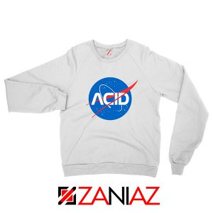 Acid Nasa White Sweatshirt