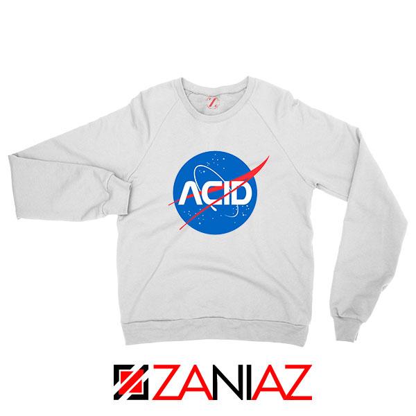 Acid Nasa White Sweatshirt