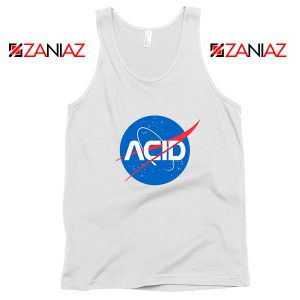 Acid Nasa White Tank Top