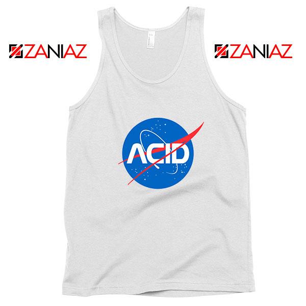Acid Nasa White Tank Top