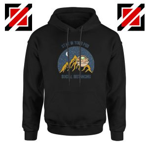 Baby Yoda Stay In Your Pod Black Hoodie