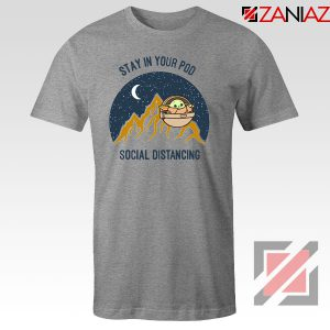 Baby Yoda Stay In Your Pod Sport Grey Tshirt