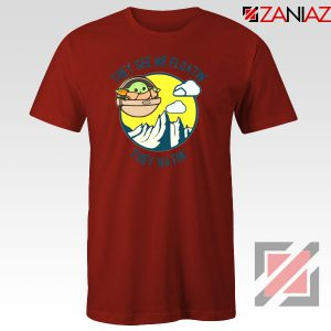 Baby Yoda They See Me Red Tshirt