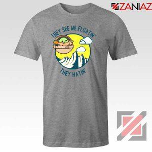 Baby Yoda They See Me Sport Grey Tshirt