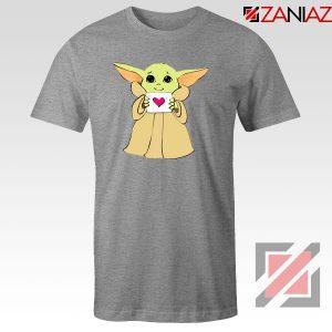 Baby Yoda Valentine Sport Grey Tshirt