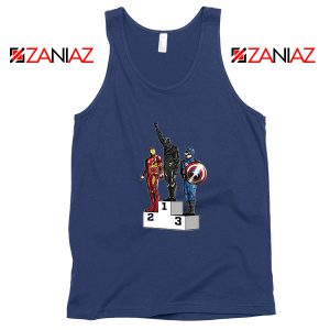 Black Panther Winner NAvy Blue Tank Top