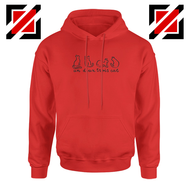 Buy French Cat Red Hoodie