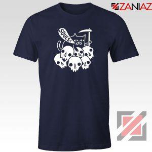 Cheap Cat Soul Navy Blue Tshirt