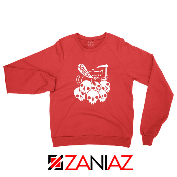 Cheap Cat Soul Red Sweatshirt