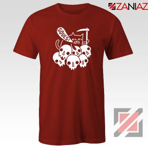 Cheap Cat Soul Red Tshirt