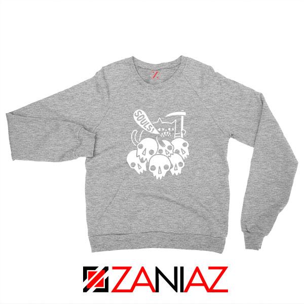 Cheap Cat Soul Sport Grey Sweatshirt
