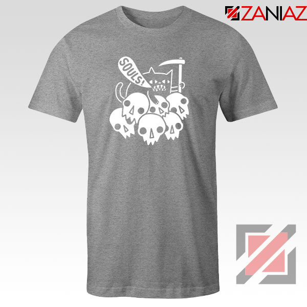 Cheap Cat Soul Sport Grey Tshirt