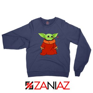 Cute Baby Yoda Navy Blue Sweatshirt