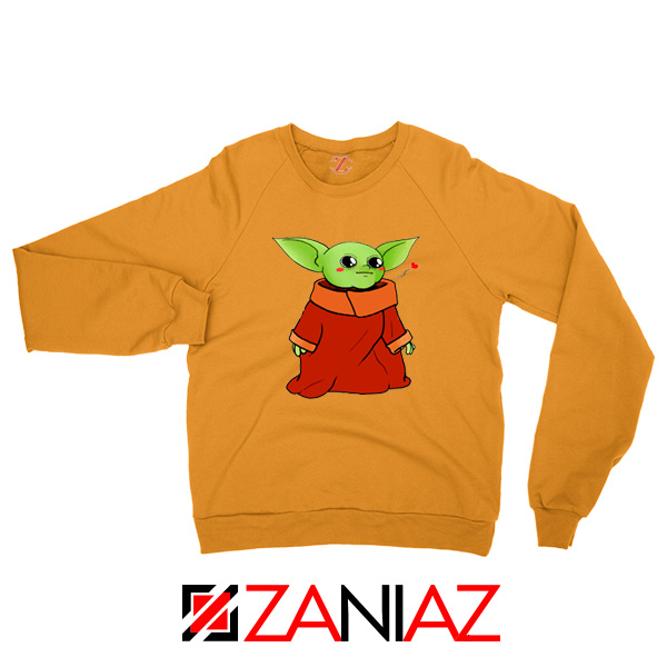 Cute Baby Yoda Orange Sweatshirt