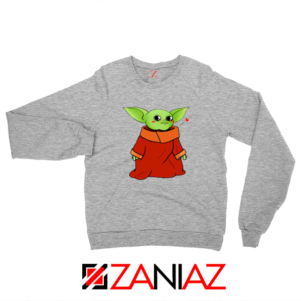 Cute Baby Yoda Sport Grey Sweatshirt