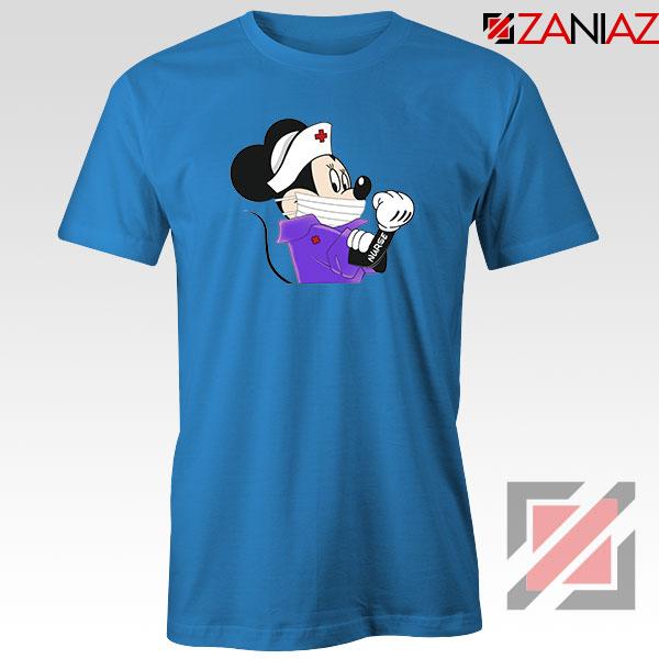 Cute Minnie Mouse Nurse Blue Tshirt