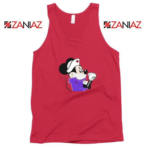 Cute Minnie Mouse Nurse Red Tank Top