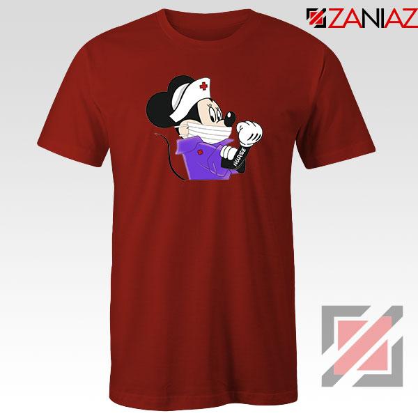 Cute Minnie Mouse Nurse Red Tshirt