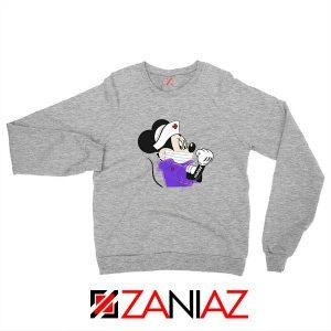 Cute Minnie Mouse Nurse Sport Grey Sweatshirt