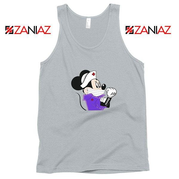 Cute Minnie Mouse Nurse Sport Grey Tank Top