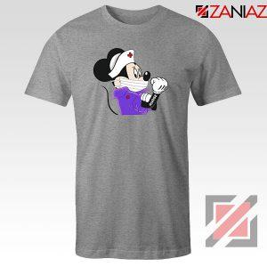Cute Minnie Mouse Nurse Sport Grey Tshirt
