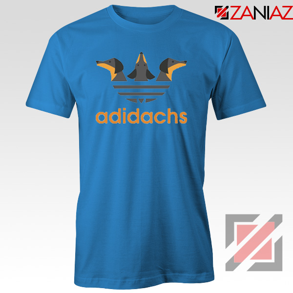 Dachshund Adidachs Blue Tshirt