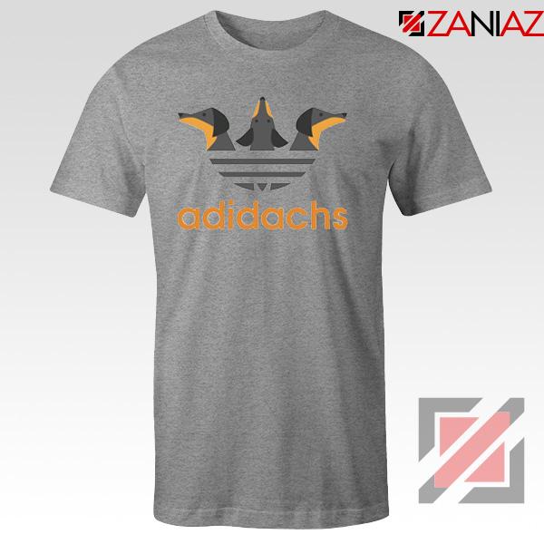 Dachshund Adidachs Sport Grey Tshirt