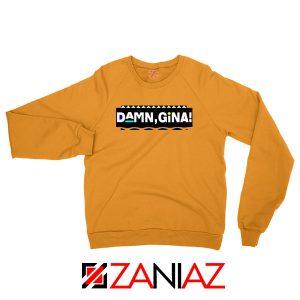 Damn Gina Martin Orange Sweatshirt