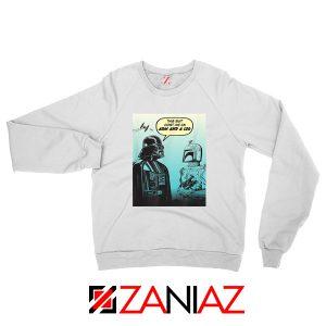 Darth Vader and Boba White Sweatshirt