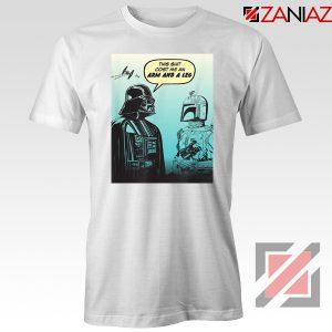 Darth Vader and Boba White Tshirt