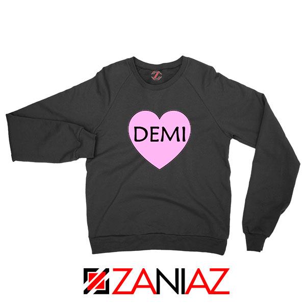 Demi Lovato Heart Black Sweatshirt