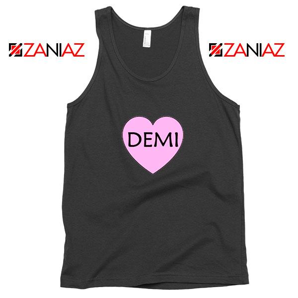 Demi Lovato Heart Black Tank Top