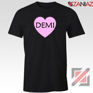 Demi Lovato Heart Black Tshirt