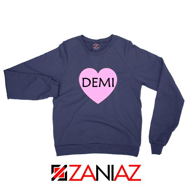 Demi Lovato Heart Navy Blue Sweatshirt
