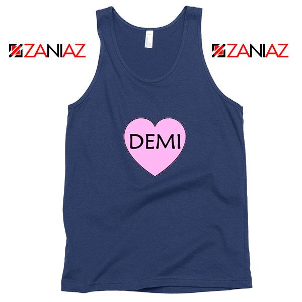 Demi Lovato Heart Navy Blue Tank Top