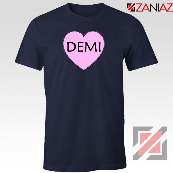 Demi Lovato Heart Navy Blue Tshirt