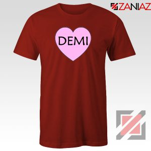 Demi Lovato Heart Red Tshirt