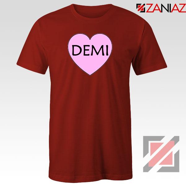 Demi Lovato Heart Red Tshirt
