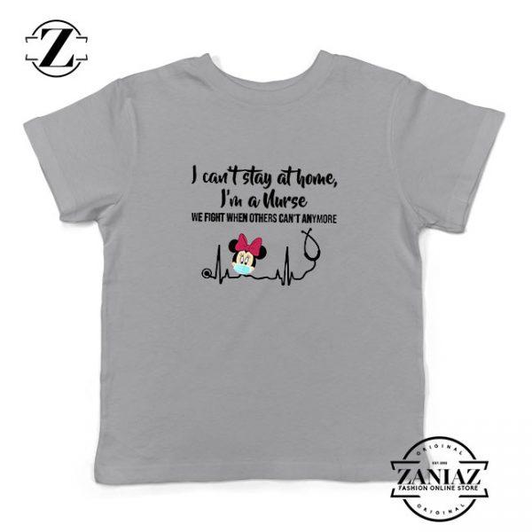 Disney Minnie Mouse Nurse Sport Grey Kids Tshirt