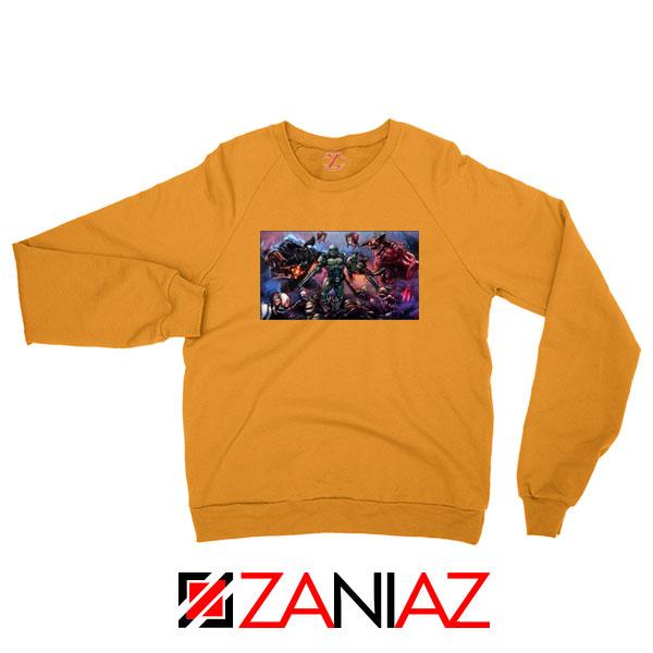 Doom 2016 Poster Orange Sweatshirt