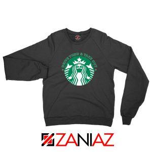 Drive Thru Take Out Coffee Black Sweatshirt