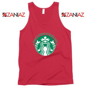 Drive Thru Take Out Coffee Red Tank Top