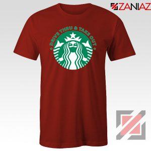 Drive Thru Take Out Coffee Red Tshirt