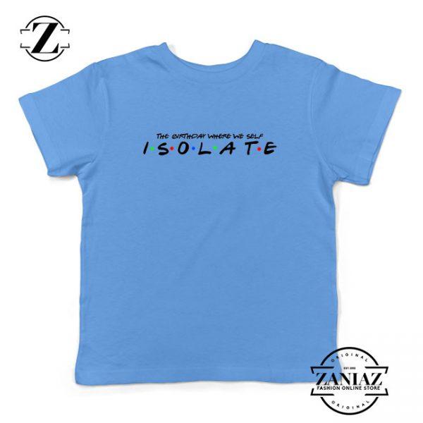 Friends Parody Isolate Light Blue Kids Tshirt