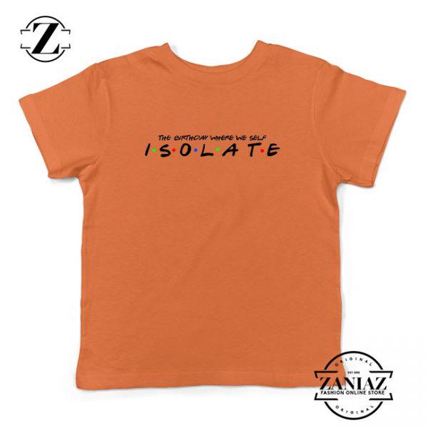 Friends Parody Isolate Orange Kids Tshirt